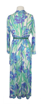 Vintage Emilio Pucci for Formfit Rogers 1960s Purple & Blue Iris Robe