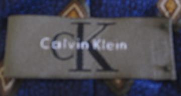 Calvin Klein blue and yellow diamond tie