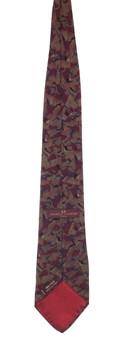 Charles Jourdan Burgundy Abstract Tie