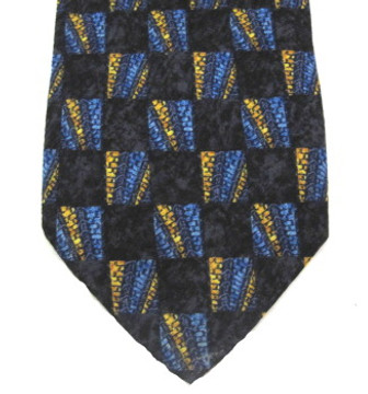 Ermenegildo Zegna navy geometric tie