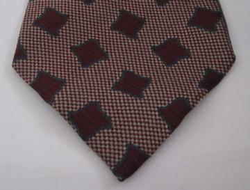 Giorgio Armani dark red, blue and white star tie