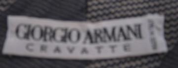 Giorgio Armani Gray Diagonal Stripe Tie