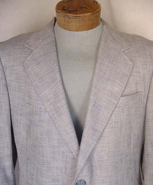 Vintage Beige & Blue Tweed Jacket