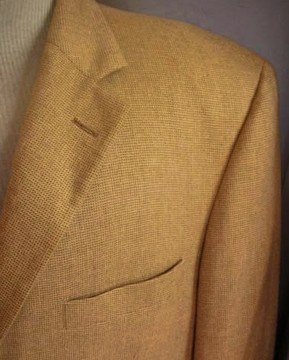 Loro Piana Cashmere Tan Micro-Check Jacket