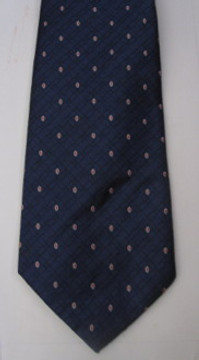 Oscar de la Renta blue tie with red dots