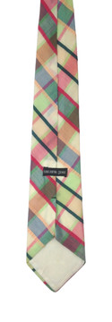 Vintage Saks Fifth Avenue Wide Cotton Plaid Tie