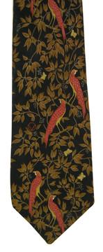 Valentino black and brown pheasant tie
