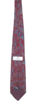 Valentino maroon, teal & gray modern art tie