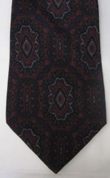 Vitaliano dark paisley tie