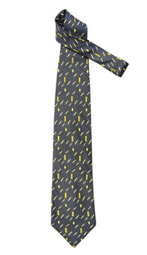 Giorgio Armani Gray Soft Abstract Silk Tie
