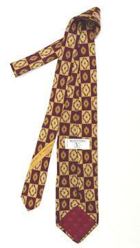 Valentino Framed Medallion Silk Tie