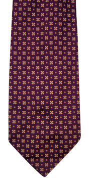 Battistoni Bordeaux Silk Floral Tie
