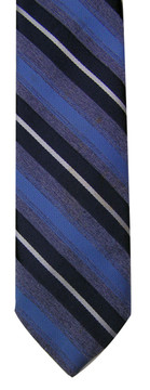Lilly Dache Vintage Blue Silk Striped Tie