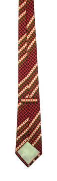 Turnbull & Asser Orange Geometric Tie