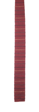Yves Saint Laurent Maroon Knit Tie with Horizontal Stripes