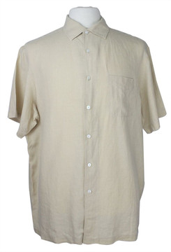 Ralph Lauren Purple Label Beige Linen Shirt