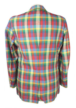 Vintage Corbin Colorful Plaid Blazer