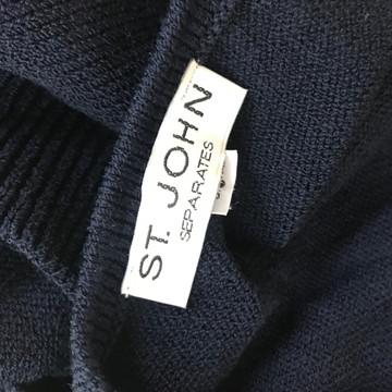 St. John Navy Blue Santana Knit Top