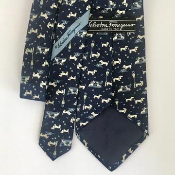 Salvatore Ferragamo Blue Dog Tie