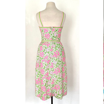 Vintage 1960s Lilly Pulitzer Pink & Green Dress