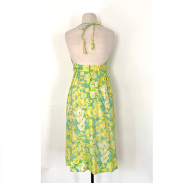 Vintage Lilly Pulitzer Halter Dress with Applique Bust