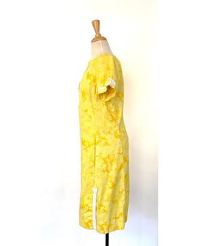 Lilly Pulitzer Yellow Shift Dress with White Applique