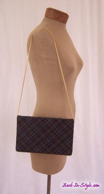 Morris Moskowitz black embroidered evening clutch /bag