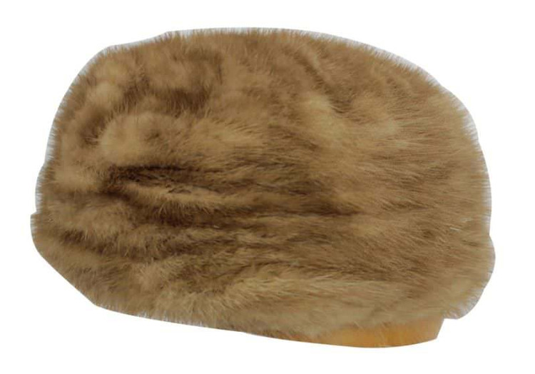 Vintage 1960s Mink Fur Pillbox Hat