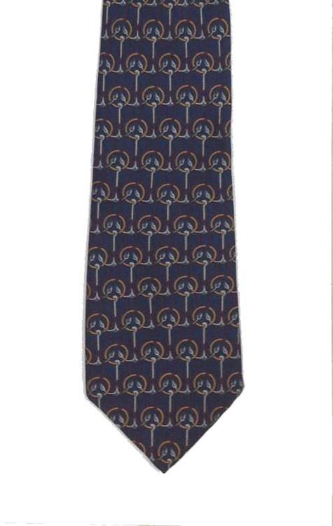 Charles Jourdan Navy Blue Anchor Tie