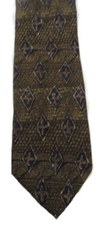 Ermenegildo Zegna Brown Diamond Tie