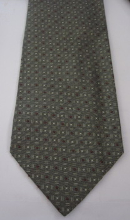 Hugo Boss gray textured tie