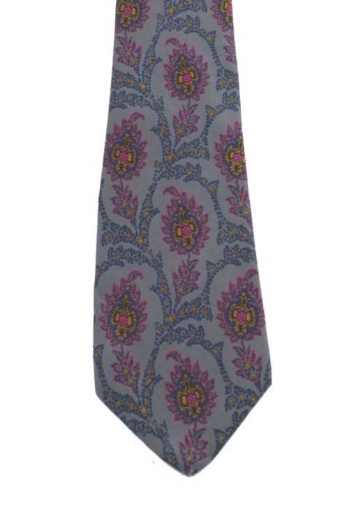 Valentino Gray, Blue & Pink Tie