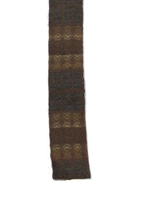 Vintage Rooster 1950s Knit Brown Skinny Tie