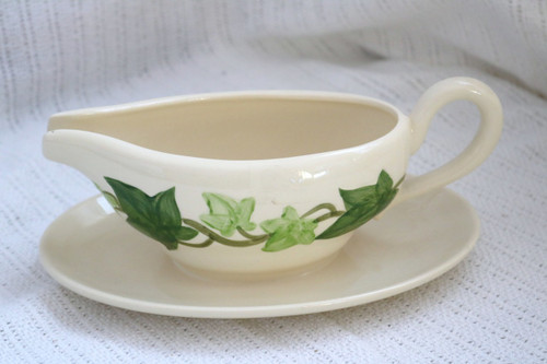 Franciscan Ivy Gravy Boat with Attached Under Plate