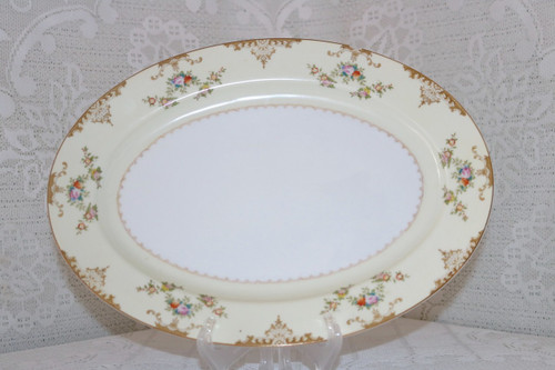 Meito China Marie Oval Serving Platter