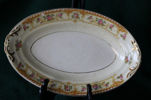 Crown Potteries Co Relish - Gravy Boat Under Plate
