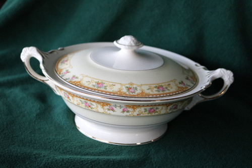 Crown Potteries Co Round Covered Vegetable Serving Bowl