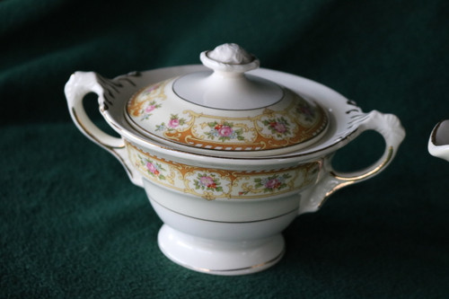 Crown Potteries Co Sugar Bowl with Lid