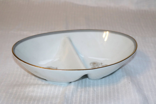 Noritake Blair Rose Oval Divided Vegetable Serving Bowl
