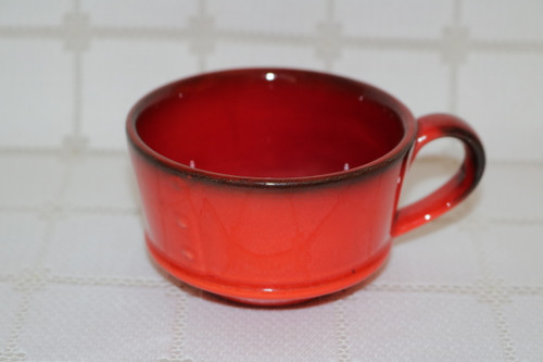 Metlox Red Rooster Red Coffee Cup