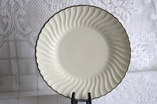SCIO China Platinum Swirl Luncheon Plate