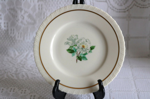 Hanover China Silver Rose Bread & Butter Plate