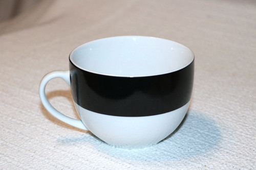 Home Banded Black Coffee Cup