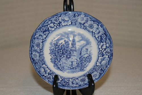 Staffordshire Liberty Blue Saucer