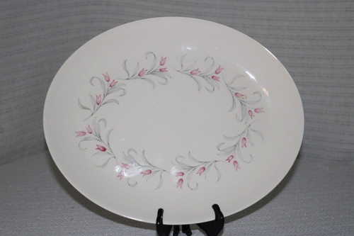 Homer Laughlin Co Tulip Wreath Oval Serving Platter