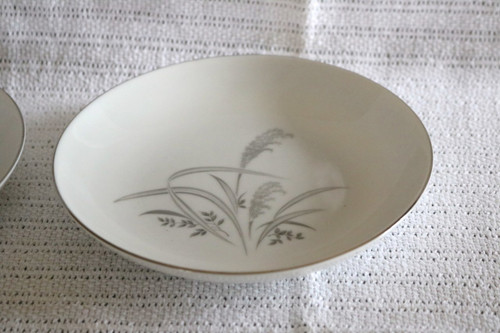 Wentworth Fine China Silver Wheat Soup Bowl
