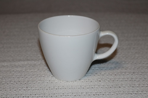 Corning White Coupe Coffee Cup