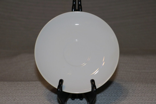 Corning White Coupe Saucer