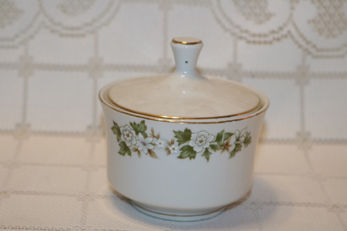 Fine China of Japan Bouquet Sugar Bowl with Lid