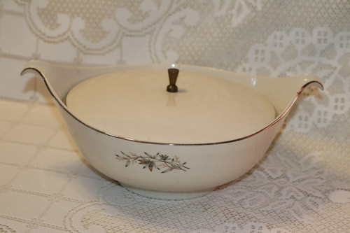 Round Covered Vegetable Serving Bowl  - D0949